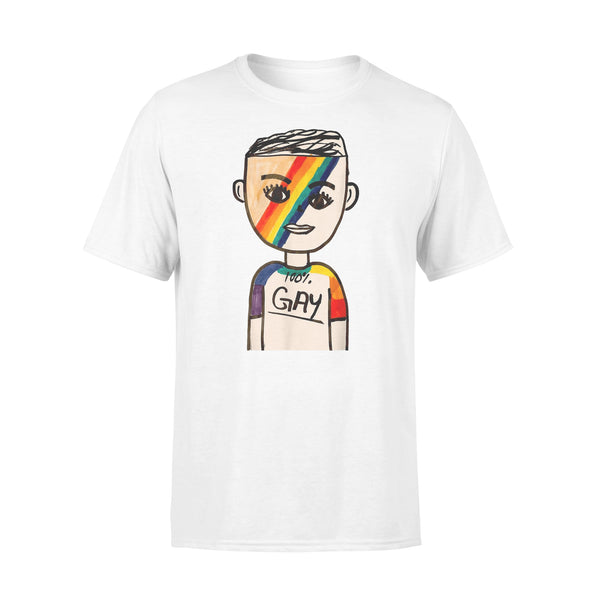 100% Gay Boy LGBT T-shirt L By AllezyShirt