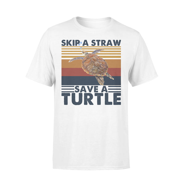 Skip A Straw Save A Turtle Vintage T-shirt L By AllezyShirt