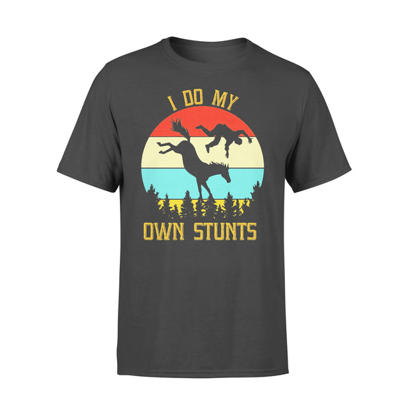 Horse Equestrian I Do My Own Stunts Vintage Retro T-shirt L By AllezyShirt