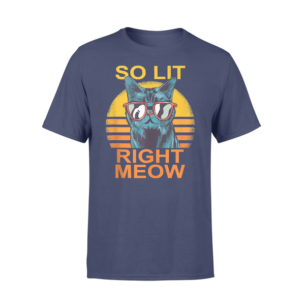 So Lit Right Meow Edm Techno Dj Rave Party Festival Cat T-shirt XL By AllezyShirt