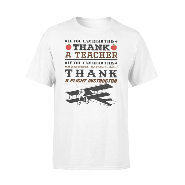 If You Can Read This Thank A  Flight Instructor T-shirt L By AllezyShirt