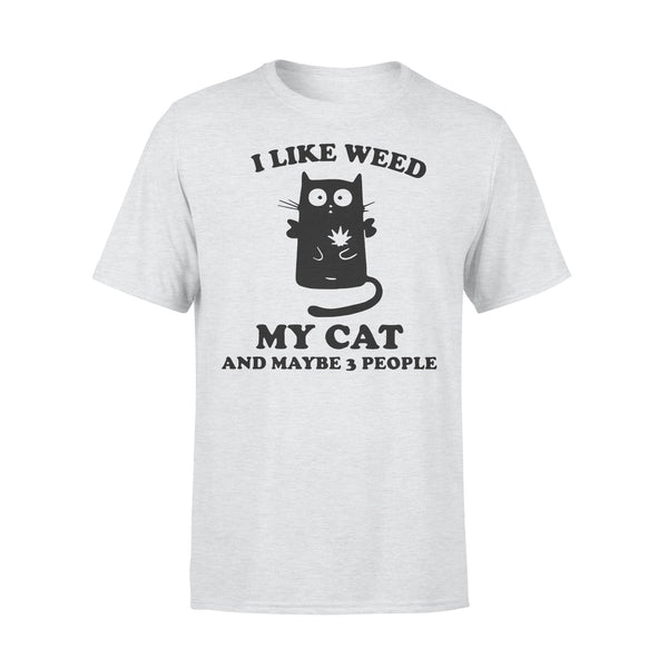 I Like Weed My Cat And Maybe 3 People T-shirt XL By AllezyShirt