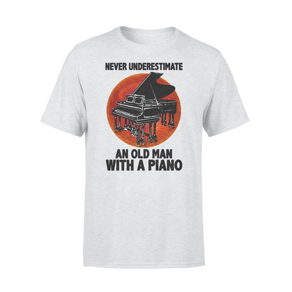 Never Underestimate An Old Man With A Piano Blood Moon T-shirt XL By AllezyShirt