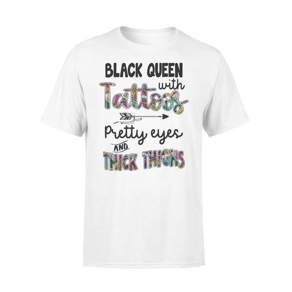Black Queen With Tattoos Pretty Eyes And Thick Thighs T-shirt L By AllezyShirt