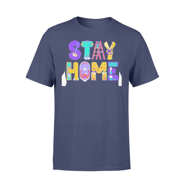Stay Home Cartoon Shirt XL By AllezyShirt