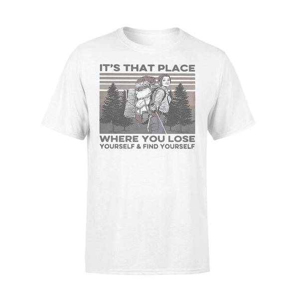 It's That Place Where You Lose Yourself And Find Yourself Hiking Vintage T-shirt L By AllezyShirt
