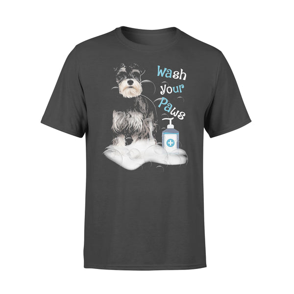 Schnauzer Dog Wash Your Paws Covid-19 T-shirt L By AllezyShirt