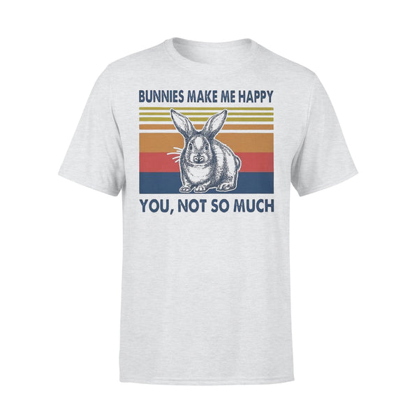 Bunnies Make Me Happy You Not Much Vintage T-shirt XL By AllezyShirt