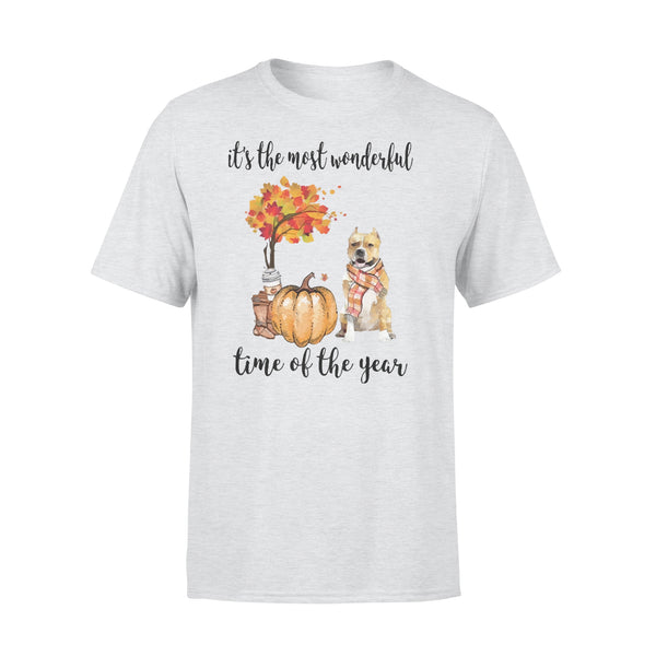 Fall Pumpkin It's The Most Wonderful Time Of The Year Amstaff T-Shirt XL By AllezyShirt