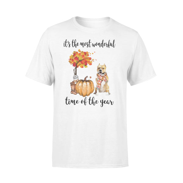 Fall Pumpkin It's The Most Wonderful Time Of The Year Amstaff T-Shirt L By AllezyShirt