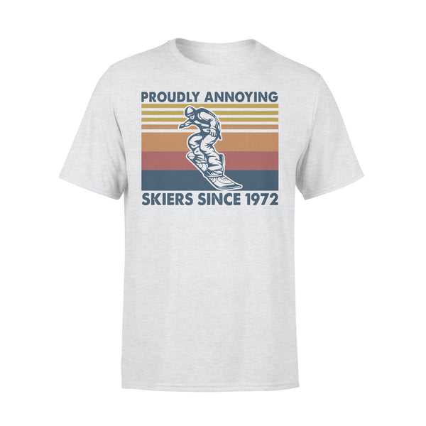 Proudly Annoying Skiers Since 1972 Skiing Vintage Retro T-shirt XL By AllezyShirt