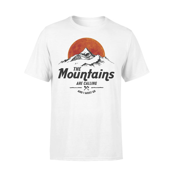 Hiking The Mountains Are Calling And I Must Go Sunshine T-shirt L By AllezyShirt