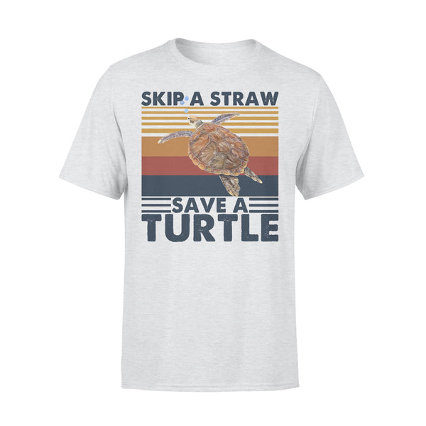 Skip A Straw Save A Turtle Vintage T-shirt XL By AllezyShirt