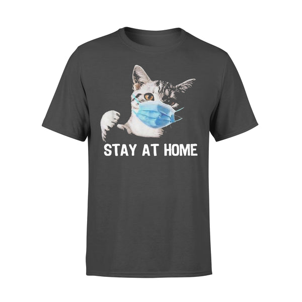Cat Mask Stay At Home T-shirt L By AllezyShirt