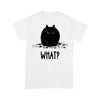Black Chubby Cat What T-shirt S By AllezyShirt