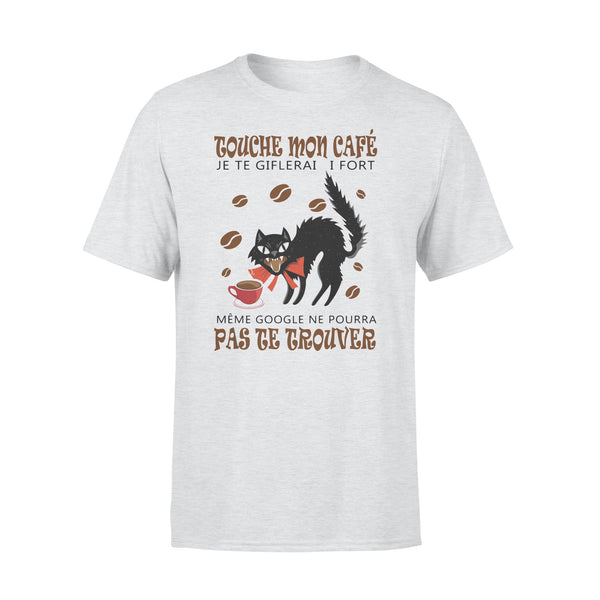 Cat Touche Mon Cafe Je Te Giflerai Si Fort T-shirt M By AllezyShirt