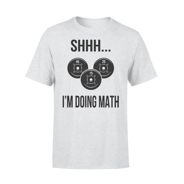 Weight Lifting Shhh I'm Doing Math Shirt XL By AllezyShirt