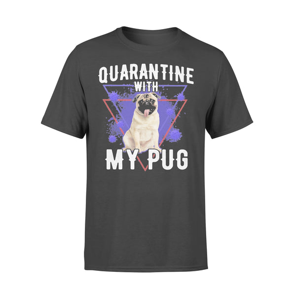 Quarantine With My Pug Coronavirus T-shirt L By AllezyShirt
