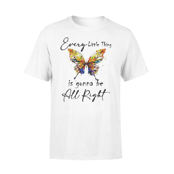 Butterfly Every Little Thing's Gonna Be Alright T-shirt L By AllezyShirt