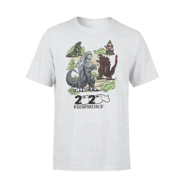 Dinosaur Face Mask 2020 Quarantined T-shirt XL By AllezyShirt