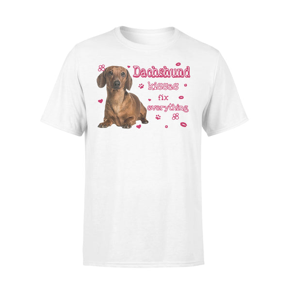 Dachshund Kisses Fix Everything T-shirt L By AllezyShirt