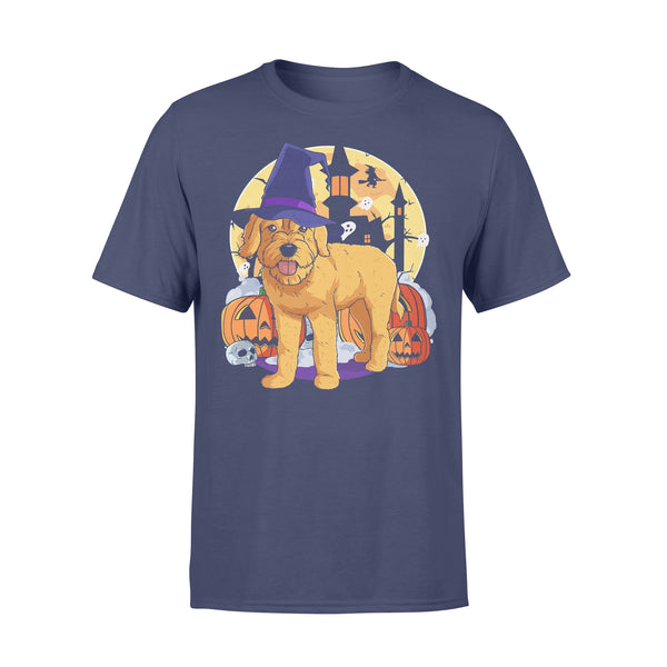 Halloween Goldendoodle Pumpkin Witch T-shirt XL By AllezyShirt