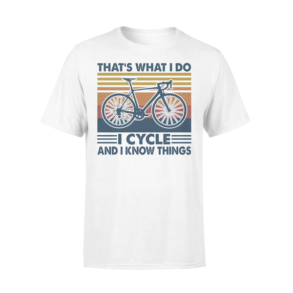 Bicycle That's What I Do I Cycle And I Know Things Vintage Retro T-shirt L By AllezyShirt