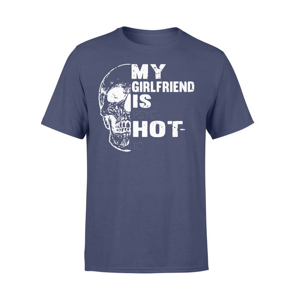 My Girlfriend Is Hot Skull T-shirt XL By AllezyShirt