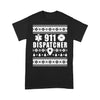 911 Dispatcher Ugly Christmas T-shirt S By AllezyShirt