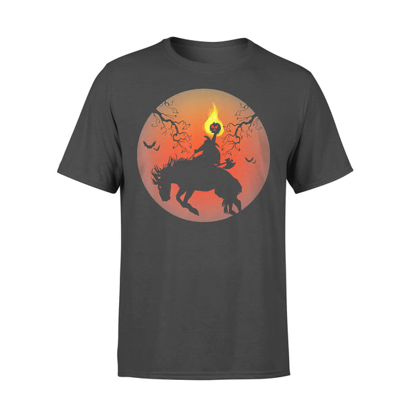 Headless Horseman Silhouette Halloween T-shirt L By AllezyShirt