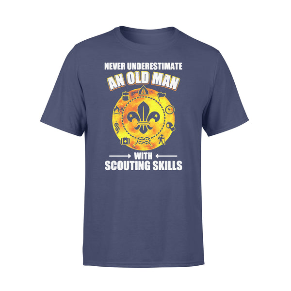 Never Underestimate An Old Man With Scouting Skills T-shirt XL By AllezyShirt