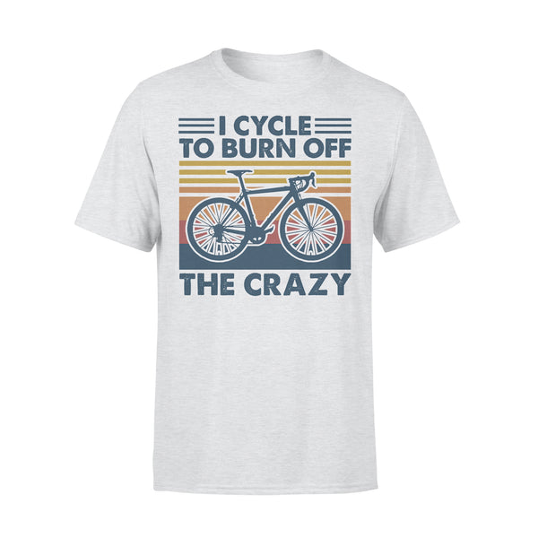 Bicycle I Cycle To Burn Off The Crazy Vintage Retro T-shirt XL By AllezyShirt