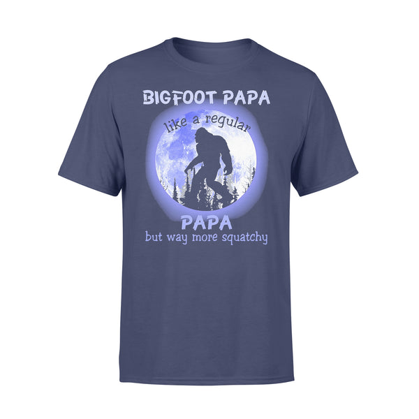 Bigfoot Papa Like A Regular Papa But Way More Squatchy Moonlight T-shirt XL By AllezyShirt