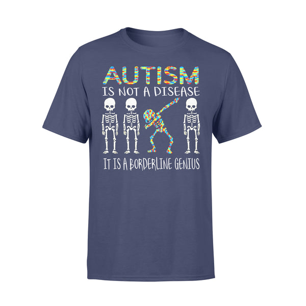 Skeleton Autism Is Not A Disease It Is A Borderline Genius Shirt XL By AllezyShirt