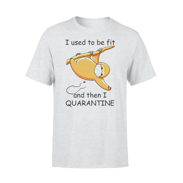 I Used To Be Fit And Then I Quarantine Sloth Shirt XL By AllezyShirt
