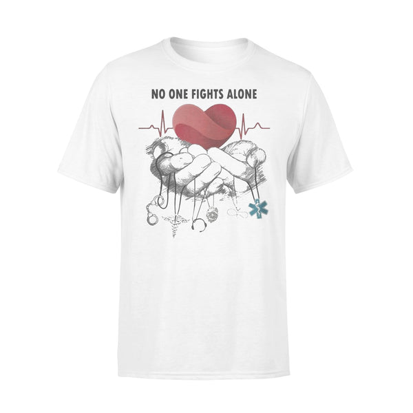 No One Fights Alone Jobs Heartbeat T-shirt L By AllezyShirt