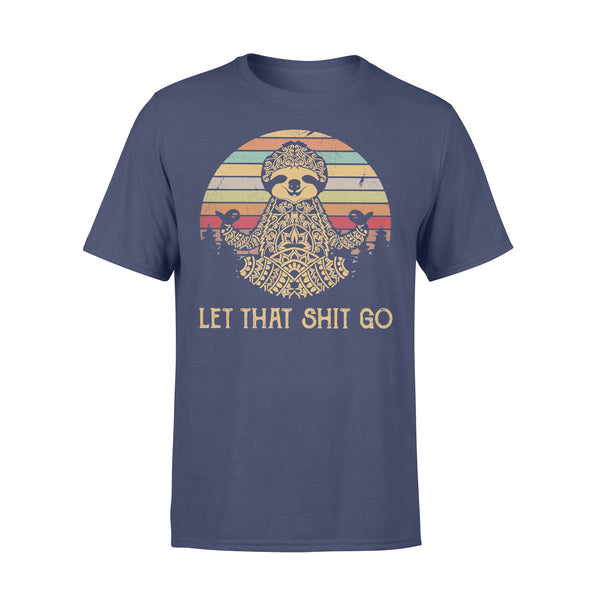 Yoga Sloth Let That Shit Go Vintage Retro T-shirt XL By AllezyShirt