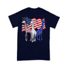 Three Giraffes American Flag T-shirt M By AllezyShirt