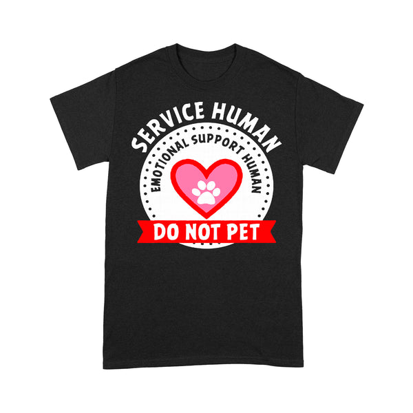 Dog Paw Service Human Emotional Support Do Not Pet T-shirt S By AllezyShirt