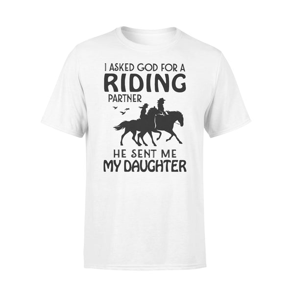 I Asked God For A Riding Partner He Sent Me My Daughter Shirt L By AllezyShirt