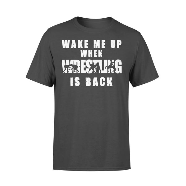 Wake Me Up When Wrestling Is Back Shirt L By AllezyShirt