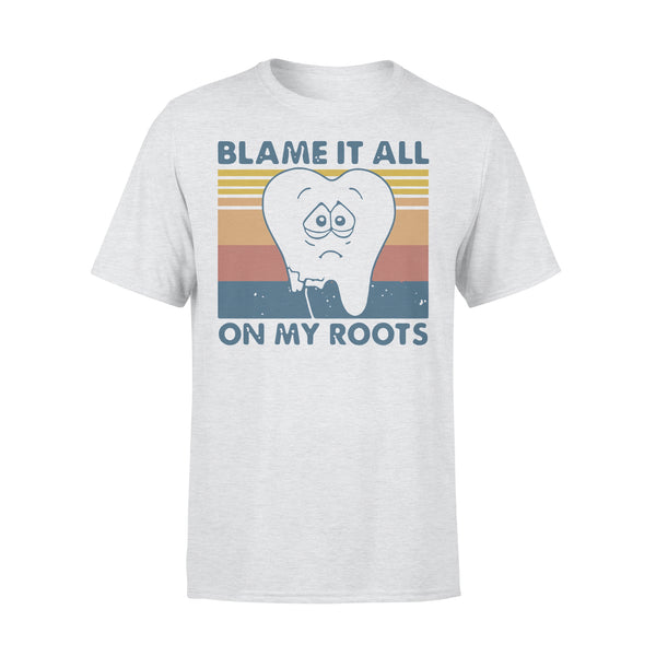 Tooth Blame It All On My Roots Vintage Retro T-shirt XL By AllezyShirt