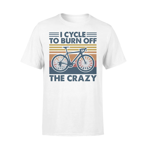 Bicycle I Cycle To Burn Off The Crazy Vintage Retro T-shirt L By AllezyShirt