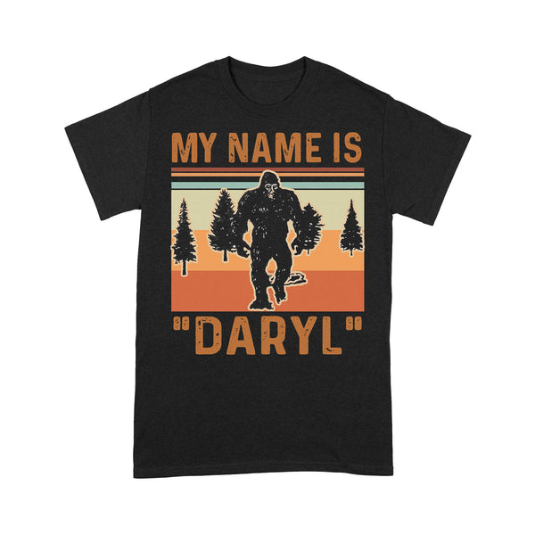 Bigfoot My Name Is Daryl Vintage Forest T-shirt S By AllezyShirt