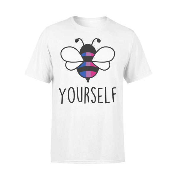 Bee YourSelf Bisexual Bee Gay Pride LGBT Rainbow T-shirt L By AllezyShirt