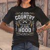 A Little Country A Little Hood Hip Hop Rap Music Womens Gift Shirt M By AllezyShirt