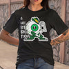 A Wee Bit Irish Today Eyes Funny Patrick's Day Shirt S By AllezyShirt