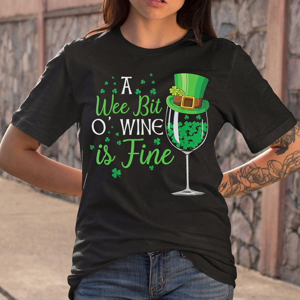 A Wee Bit O' Wine Funny St Shirt M By AllezyShirt