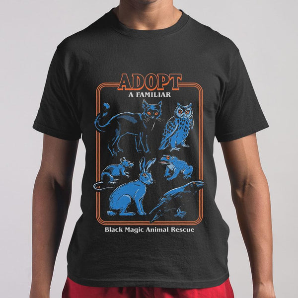 Adopt A Familiar Black Magic Animal Rescue T-shirt M By AllezyShirt