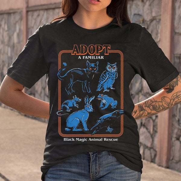 Adopt A Familiar Black Magic Animal Rescue T-shirt S By AllezyShirt